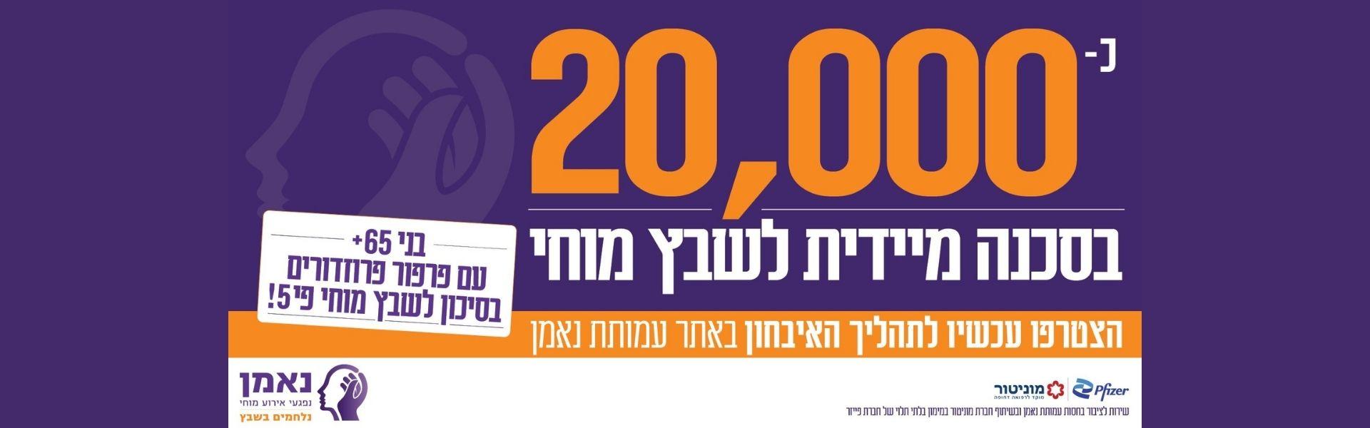 100,000 התקפי שבץ בישראל